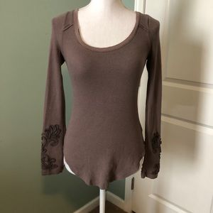 FREE PEOPLE long sleeved purplish shirt size XS